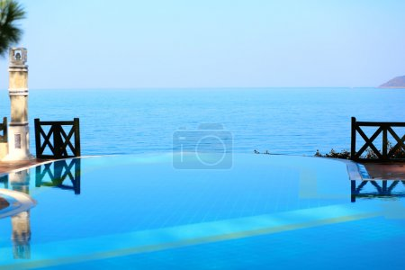 View from infinity swimming pool