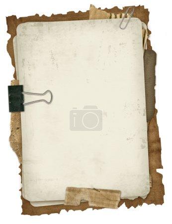 Photo pour Papier ancien design dans le style scrapbooking - image libre de droit