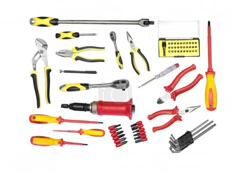 large set of tools