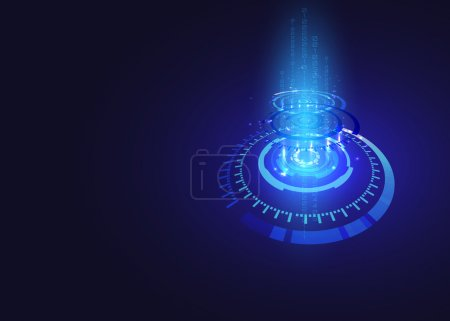 Illustration for Vector background abstract technology communication concept,futuristic background, techno circle. - Royalty Free Image