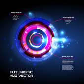 Sci fi futuristické uživatelské rozhraní