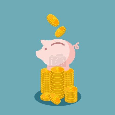 Saving money  business concept