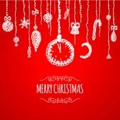 červené vánoční přání