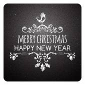 Merry Christmas lettering Vector typography chalkboard