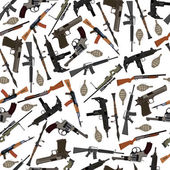 Flat seamless pattern weapons in vector format eps10