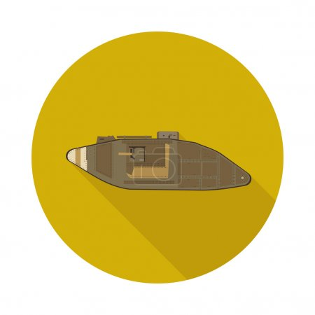 flat icon tank of the first world war