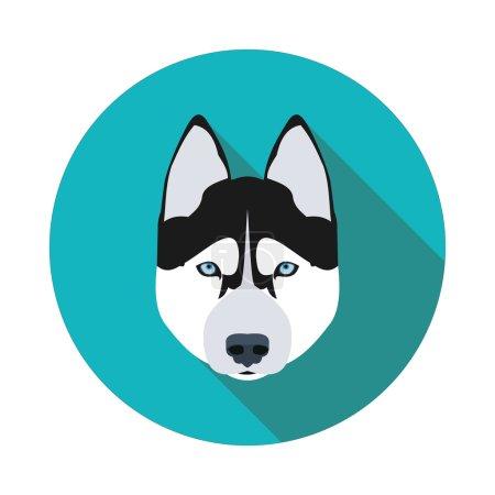 flat icons dog husky