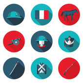 Flat icons Napoleon in vector format eps10