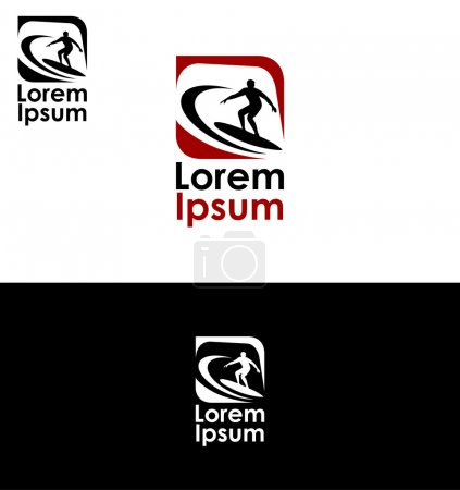 Icon for surfing and extreme sports