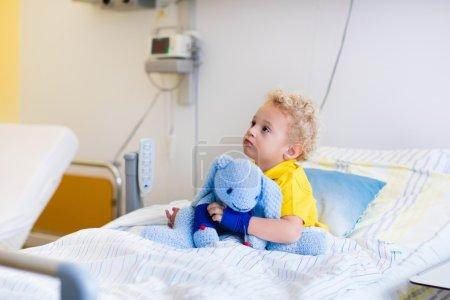 Little boy in hospital room