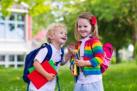 Kids on first school day