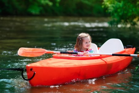 Little girl in a kayak