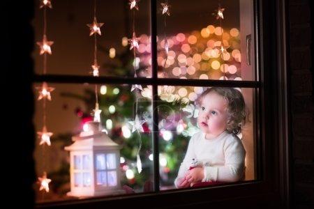 Girl at Christmas eve