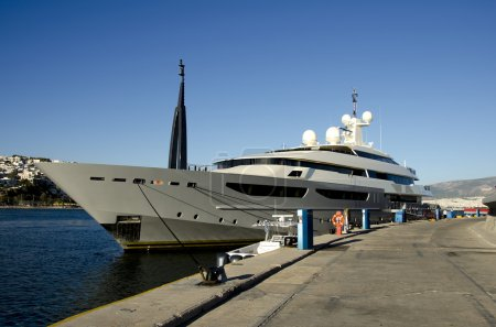 Luxury yacht at marina,Greece