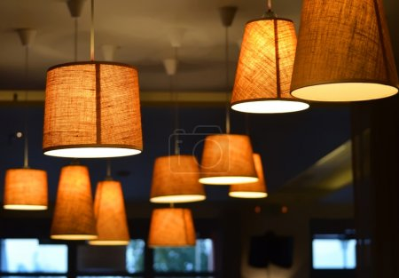Lamps in a coffee shop