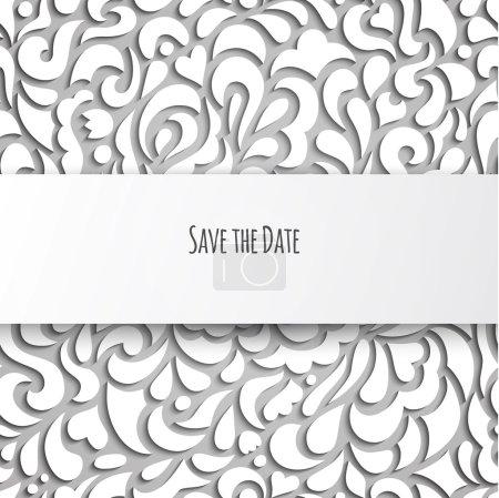 Beautiful floral invitation card