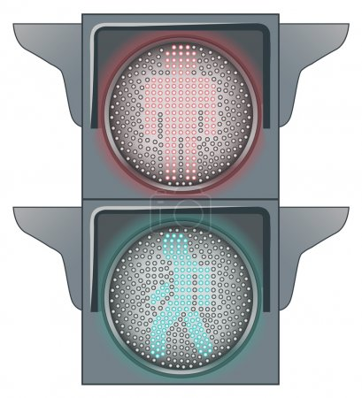 Illustration for Stop and Go on the Traffic lights - Royalty Free Image