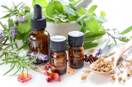 natural apothecary with essential oils