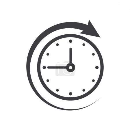 Illustration for Icon of symbol, sign Open around the clock or 24 hours a day - Royalty Free Image