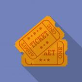 Icon of Ticket. Flat style