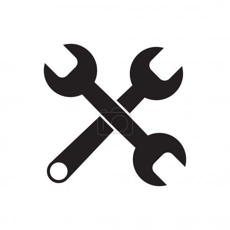 Black icon of Wrench