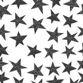 Hand drawn pattern from stars