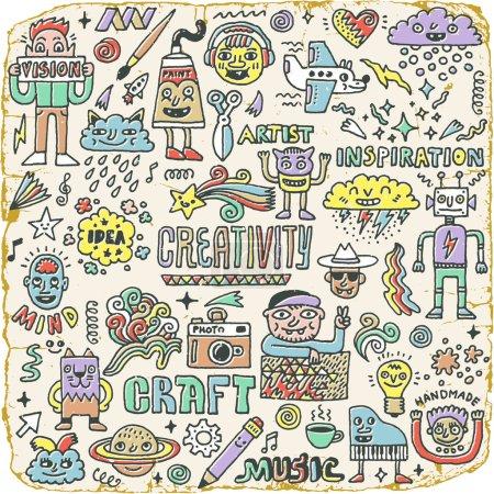 Funny Wacky Doodle Characters