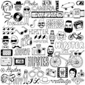 Hipster doodle mega set Vector illustration