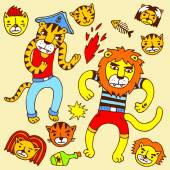 Lion and tiger pirates