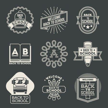 School logotypes set.