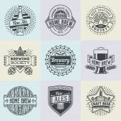 logotypes home brewery set