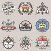 retro design insignias logotypes set