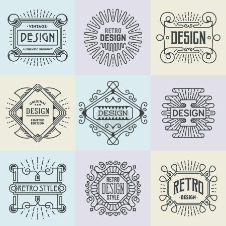 Retro Design Insignias Logotypes