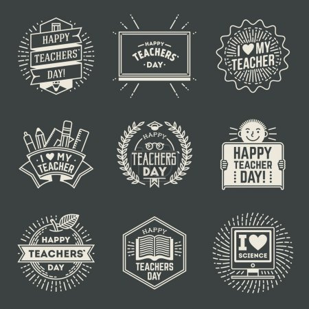 Happy Teachers Day assorted  insignias