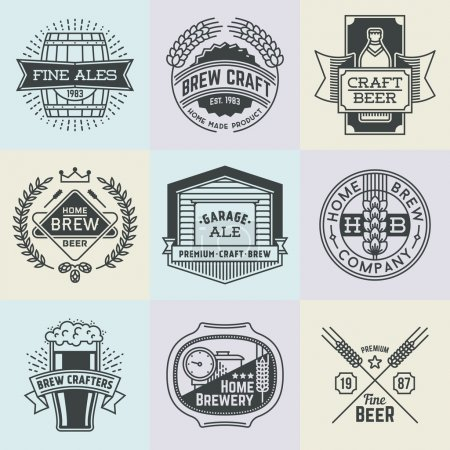 art logotypes home brewery set