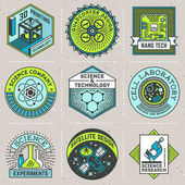 Assorted science logos color set