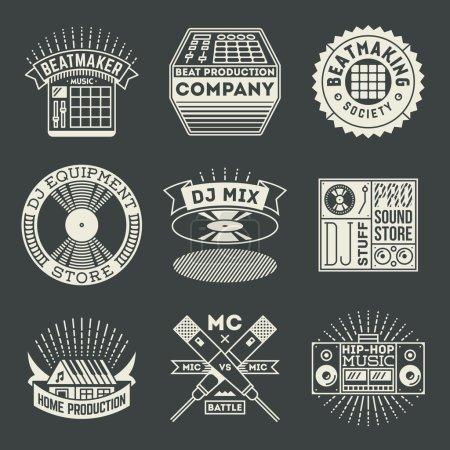 musical hip hop logotypes