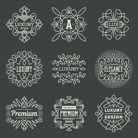 Retro design luxury logotypes
