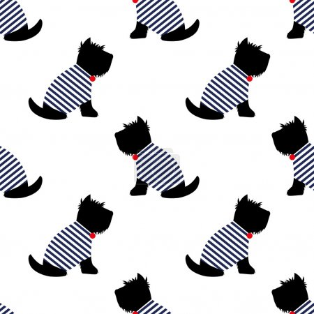 Scottish terrier seamless pattern