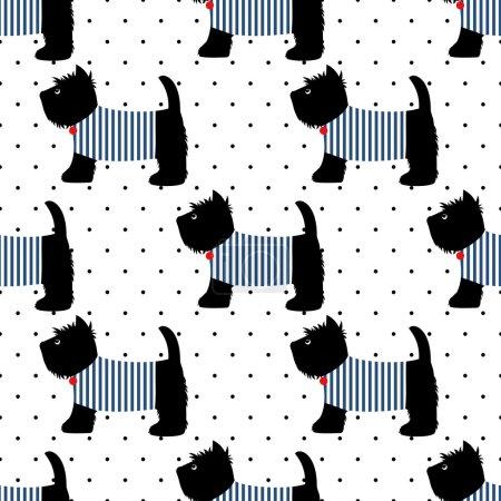 Scottish terrier  seamless pattern