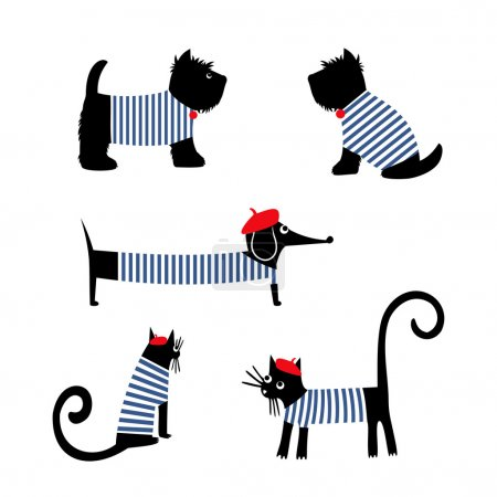 French style animals set.