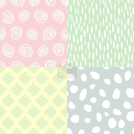 Pastel backgrounds. Cute vector seamless patterns.