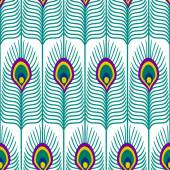 Seamless abstract pattern with peacock feather on white background Close-up decorative texture with peacock feathers