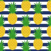 Seamless pineapples background Cute vector pineapple pattern Summer fruit illustration