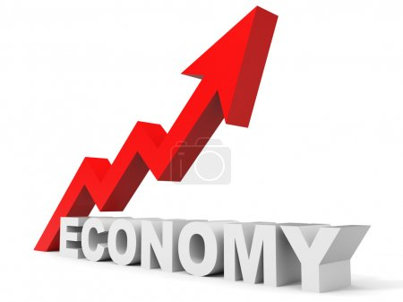 Graph up economy arrow.