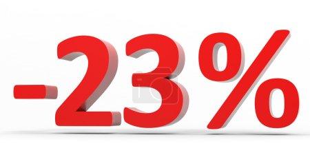 Discount 23 percent off sale.