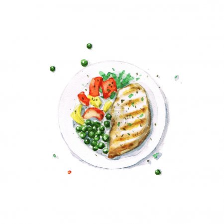 Chicken Grill - Watercolor Food Collection