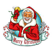 Vánoce s Santa štítky