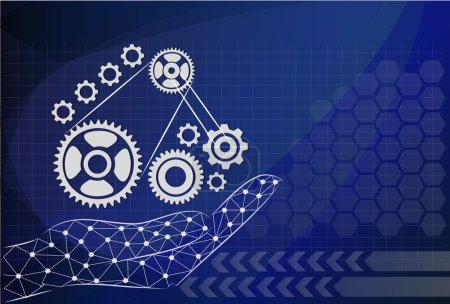 main tenir l'engin sur les technologies de l'information, concept de gestion