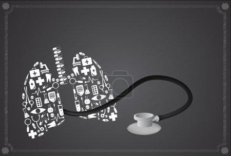 Illustration pour Poumons, vecteur - image libre de droit